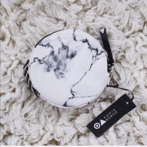 NEW | Accessories | White Marble Leather Clutch